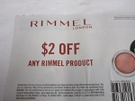 15 Coupons $2/1 Rimmel Product 5/31/2020