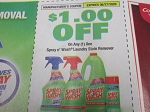 15 Coupons $1/1 Spray n Wash Laundry Stain Remover 6/27/2020