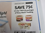 15 Coupons $.75/2 Kozy Shack Pudding 6/7/2020