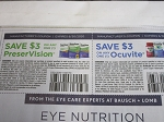 15 Coupons $3/1 PreserVision + $3/1 Ocuvite 6/30/2020