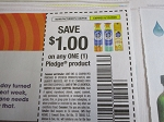 15 Coupons $1/1 Pledge Product 6/13/2020