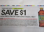 15 Coupons $1/2 Pine Sol Multi Surface Cleaner 40oz 6/28/2020
