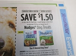 15 Coupons $1.50/1 Nudges 10OZ Dog Treats or 2ct Trial Jerky Chew 8/31/2020