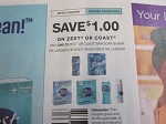 15 Coupons $1/1 Zest or Coast Bar Soap or Body Wash 6/28/2020
