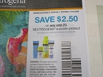 15 Coupons $2.50/1 Neutrogena Suncare 7/18/2020