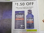 15 Coupons $1.50/1 ZzzQuil Night Pain 7/18/2020