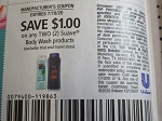 15 Coupons $1/2 Suave Body Wash 7/18/2020