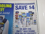 15 Coupons $4/1 Zim's Max Pain Relief Product 9/30/2020