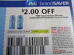 15 Coupons $2/2 Secret Outlast or Fresh Antiperspirant Deodorant 7/18/2020