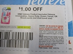 15 Coupons $1/1 Febreze Product 8/15/2020