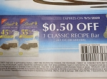 15 Coupons $.50/1 Lindt Classic Recipe bar 9/5/2020