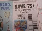 15 Coupons $.75/1 Flipz bag 5oz 10/31/2020 DND