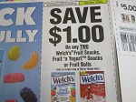 15 Coupons $1/2 Welch's Fruit Snacks 10/3/2020