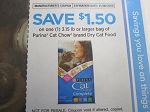 15 Coupons $1.50/1 3.15lbs Purina Cat Chow Dry Cat Food 11/30/2020