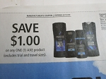 15 Coupons $1/1 Axe Product 9/12/2020