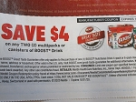 15 Coupons $4/2 Multipack or Canister Boost Drink 10/31/2020