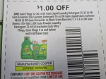 15 Coupons $1/1 Gain Flings 12 - 20ct or Liquid Laundry Detergent 25 - 32ct 10/3/2020