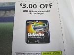 15 Coupons $3/1 Gillette Blade Refill 4ct 10/10/2020
