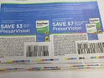 15 Coupons $3/1 PreserVision + $7/2 PreserVison 100ct 12/31/2020