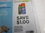 15 Coupons $1/1 Spot Shot Instant Carpet Stain Remover 12/29/2020