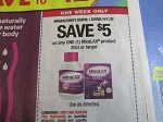 15 Coupons $5/1 MiraLax 20ct 10/11/2020