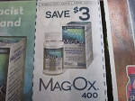 15 Coupons $3/1 Mag OX 400 Magnesium Supplement 12/31/2020