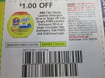 15 Coupons $1/1 Tide Simply Laundry Detergent 50oz or Pods 20ct 11/7/2020