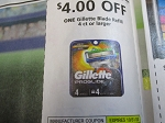 15 Coupons $4/1 Gillette Blade Refill 4ct 10/31/2020