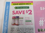 15 Coupons $2/1 Nature's Bounty Vitamin or Supplement 11/1/2020