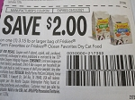 15 Coupons $2/1 Friskies 3.15lbs Farm Favorites or Friskies Ocean Favorites Dry Cat Food 3/3/2021
