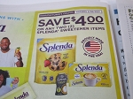 15 Coupons $4/2 Splenda Sweetener Items 2/28/2021