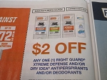 15 Coupons $2/1 Right Guard Xtreme Defense or Dry Idea Antiperspirant Deodorant 3/31/2021