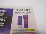 15 Coupons $2/2 Aussie Shampoo Conditioner or Styling 3/20/2021