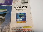 15 Coupons $3/1 Gillette Blade Refill 4/3/2021