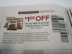15 Coupons $1/1 Grain Berry Cereal 6/30/2021