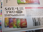 15 Coupons $1/2 Nonni's Thinadictives 5/28/2021
