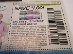 15 Coupons $1/1 Efferdent 44ct 5/8/2021