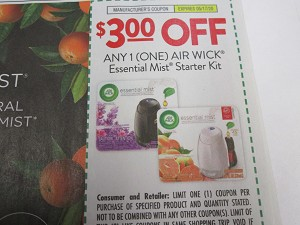 15 Coupons $3/1 Air Wick Essential Mist Starter Kit 5/17/2020