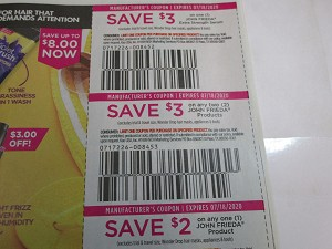 15 Coupons $3/1 John Frieda Extra Strength Serum + $3/2 John Frieda + $2/1 John Frieda Product 7/18/2020