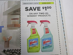 15 Coupons $1/2 Windex 9/5/2020