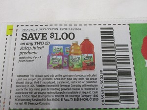 15 Coupons $1/2 Juicy Juice 9/30/2020