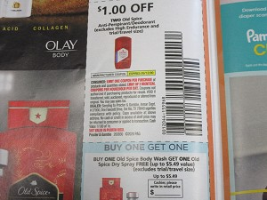 15 Coupons $1/2 Old Spice Antiperspirant + Buy 1 Old Spice Body Wash Get 1 FREE Dry Spray 9/12/2020