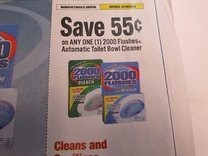 15 Coupons $.55/1 2000 Flushes Automatic Toilet Bowl Cleaner 12/29/2020