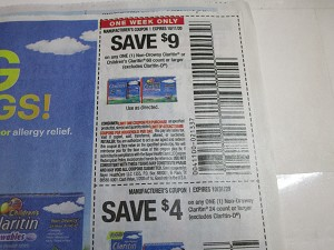 15 Coupons $9/1 Claritin 60ct 10/11/2020 + $4/1 Claritin 24ct 10/31/2020