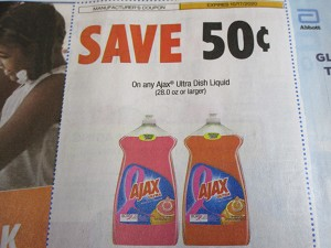 15 Coupons $.50/1 Ajax Ultra Dish Liquid 28oz 10/17/2020