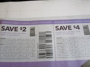 15 Coupons $2/1 Bausch + Lomb Lumify 2.5ml + $4/1 Bausch + Lomb Lumify 7.5ml 12/12/2020