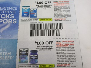 15 Coupons $1/1 Vicks VapoShower or VapoBath + $1/1 Vicks Immunity Zzzs 11/7/2020