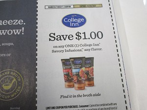 15 Coupons $1/1 College Inn Savory Infusions 1/1/2021