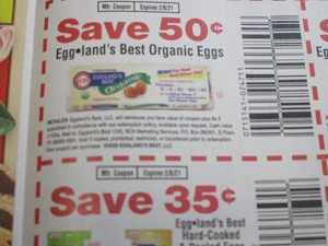 15 Coupons $.50/1 Eggland's Best Organic Eggs + $.35/1 Hard Cooked & Peeled Eggs 2/8/2021
