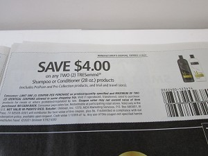 15 Coupons $4/2 Tresemme Shampoo or Conditioner 1/16/2021